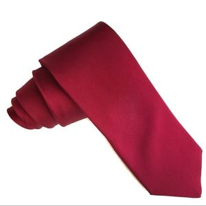 "Stafford Ruby Red Solid Colored Tie ~62""L x 3.25""W"